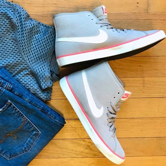 91bed1aebfc2b Nike Suede High Tops Primo Court Mid Vintage. M 5a9ec45e3316271d174ca4fc